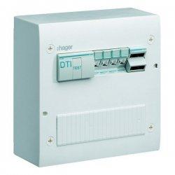 Coffret de communication semi-équipé 4 x RJ45 Grade 2TV