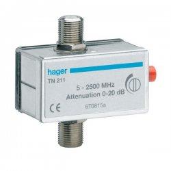 HAGER Atténuateur TN211 TV coaxial réglable 0 - 20 dB
