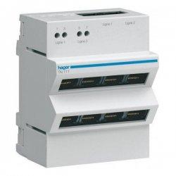 HAGER TN111 Répartiteur téléphone analogique/RNIS 2 x 4 sorties RJ45