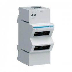 HAGER TN131 Répartiteur téléphone analogique/RNIS 1 x 4 sorties RJ45