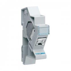 HAGER TN002S Connecteur RJ45 categorie 6 pour grade 3 + support modulaire