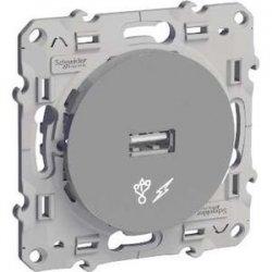 Chargeur USB Odace Alu Schneider