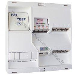 Coffret Michaud NEO L B118 Grade 1 équipé d'un DTI, d'un filtre maître ADSL, de 8 connecteurs RJ45