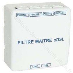 Filtre maître xDSL 4 sorties RJ45